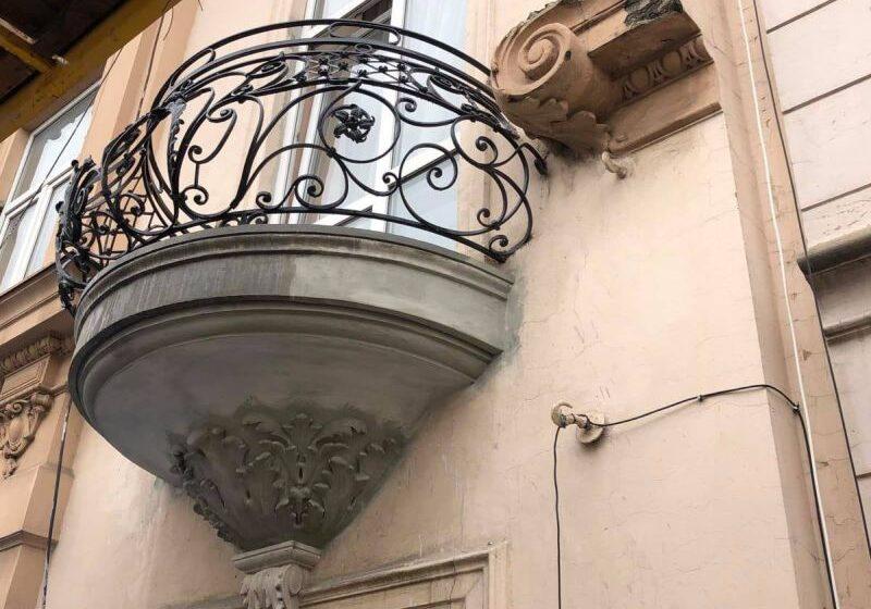 Реставрація балконів головного фасаду будинку – пам'ятки архітектури на просп. Т. Шевченка, 16 у м. Львові