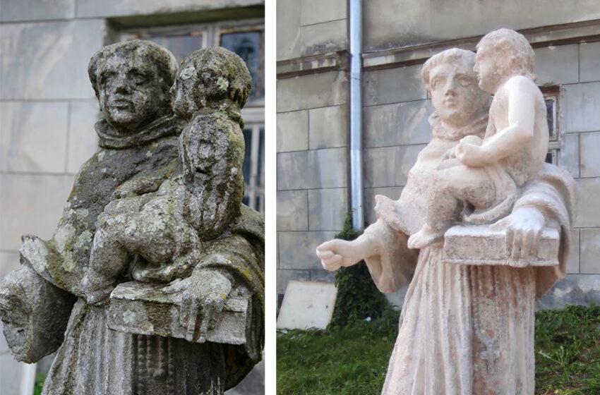 На Погулянці відновили скульптуру святого Антонія рамках Днів реставрації